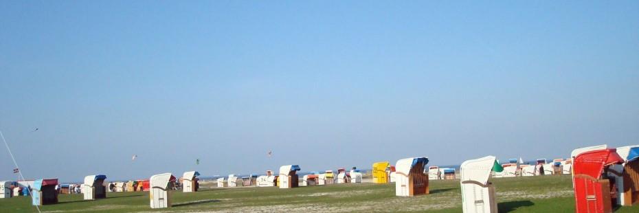 Schillig hat einen Rasen und einen großen Sandstrand, den größten am friesischen Festland